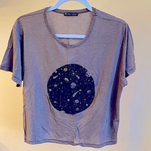 Zara galaxy T-shirt.